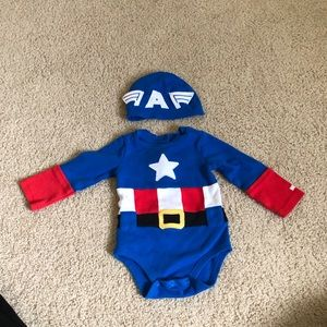 Disney captain America onesie
